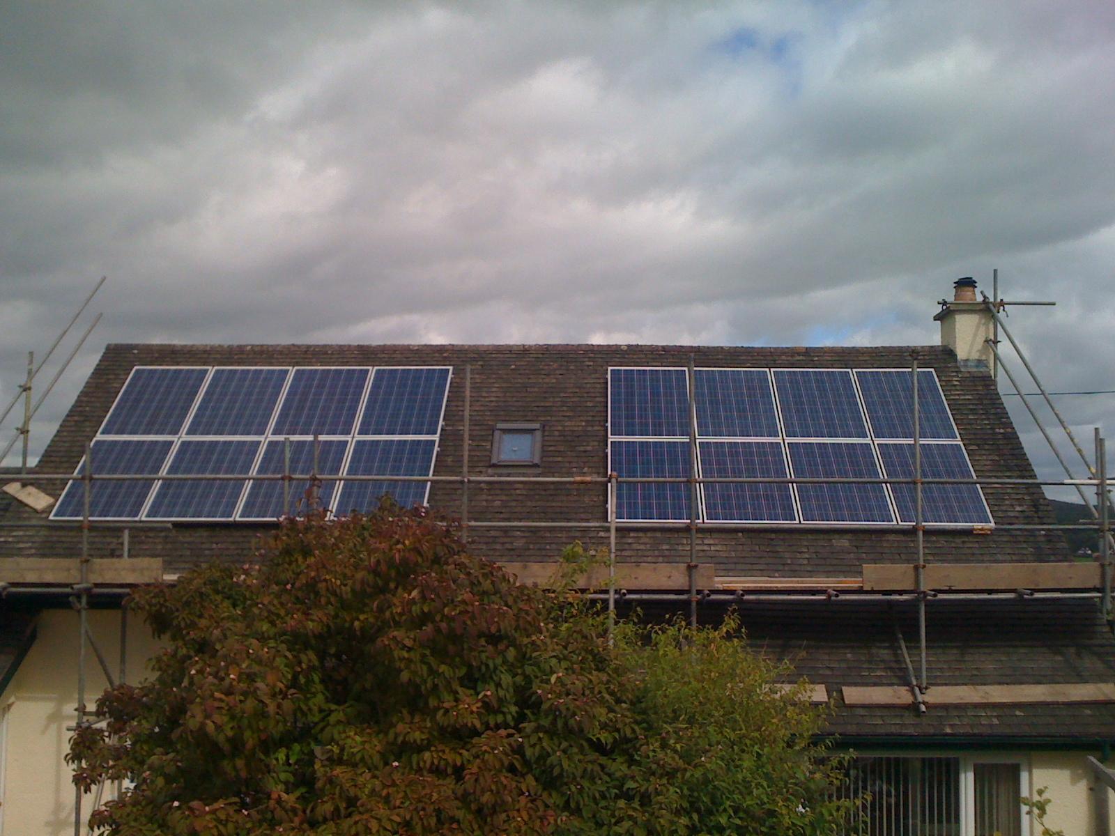 Residential Solar Installation Arnside Cumbria