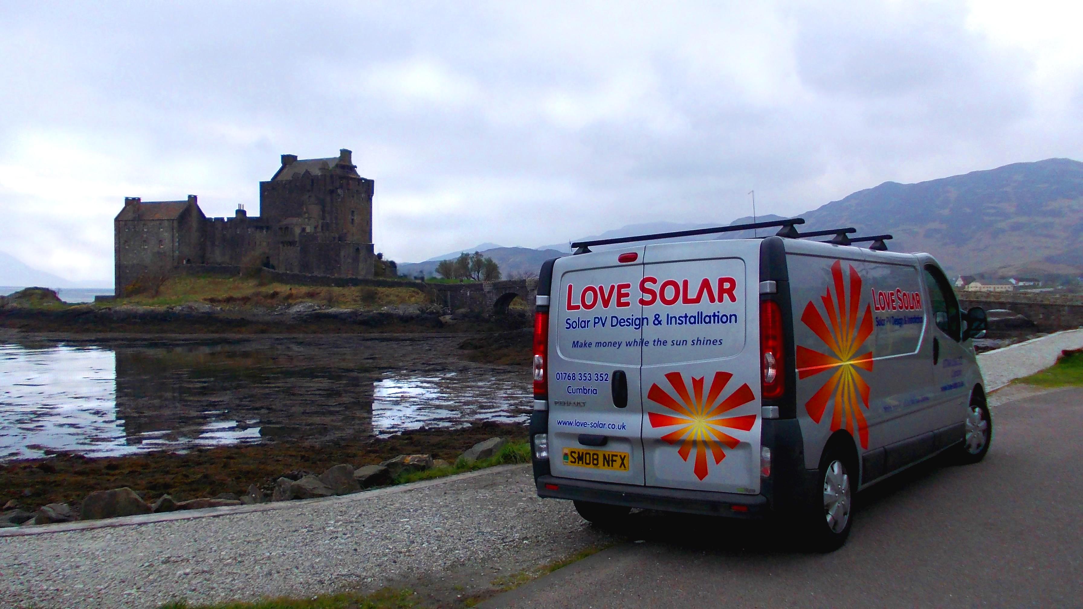 Castle Roof Solar Panels