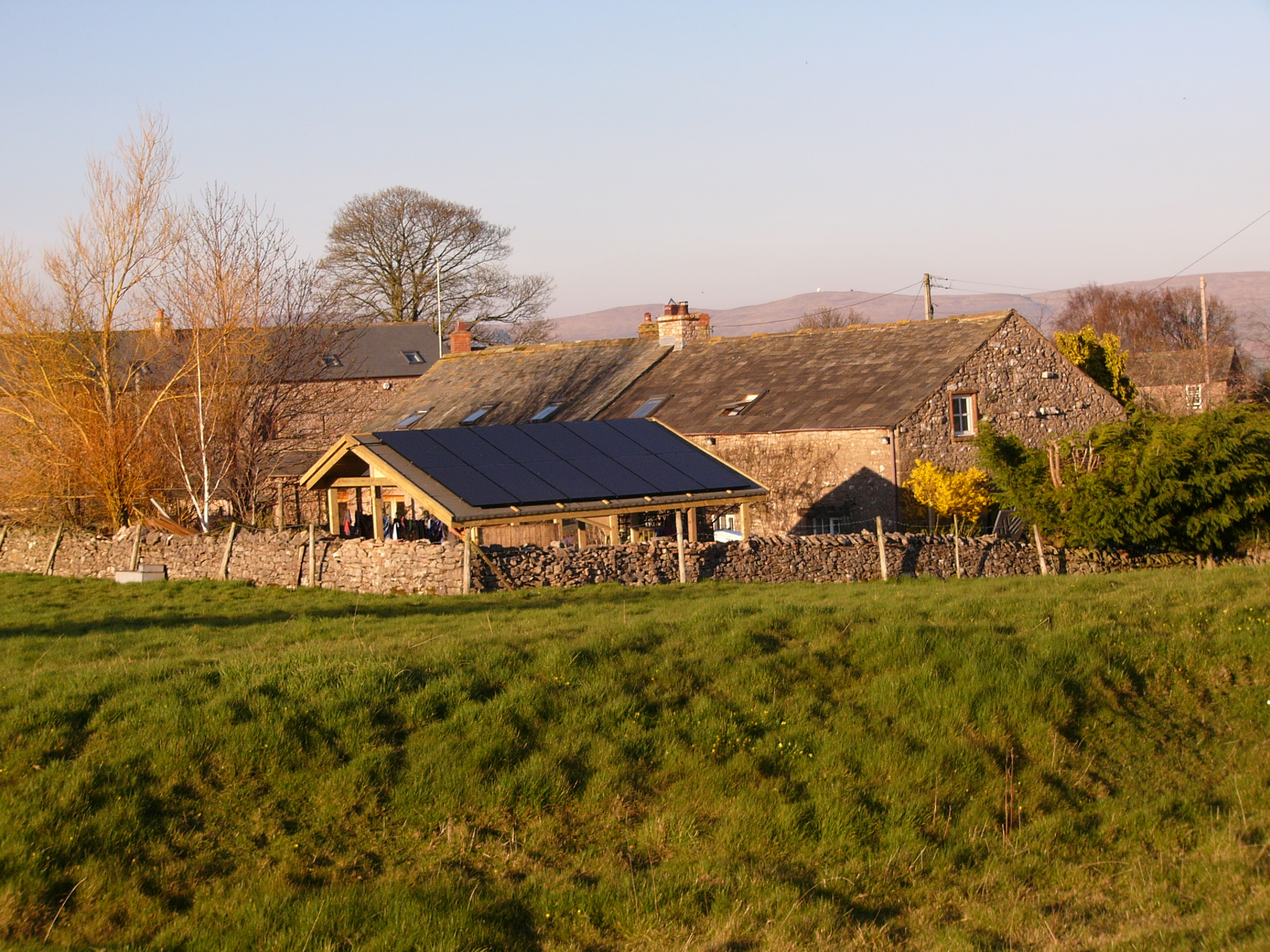 Shed Roof Solar PV Installation in Newby Cumbria