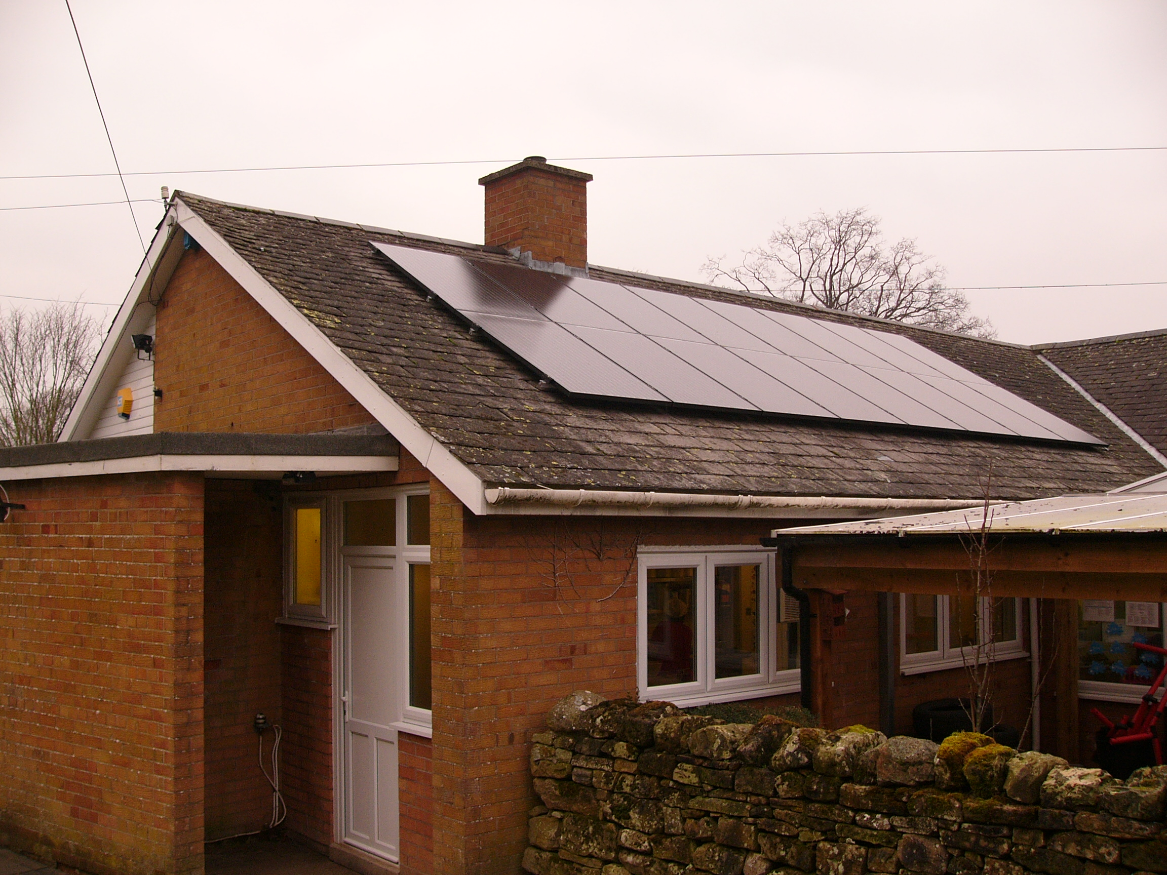 Community Solar PV Installation Rosley School Cumbria